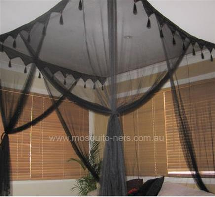 King Deluxe Box Black Mosquito Net