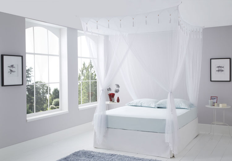 Double Size White Box Mosquito Net & Mosquito Nets Online Australia | Bed Canopy | Cotton Mosquito Net