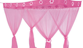 Pink Flower Princess Box Canopy Mosquito Net