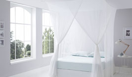 Luxurious Cotton Mosquito Net Bed Canopies Box