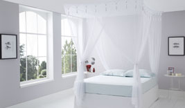 King Size Box White Mosquito Net