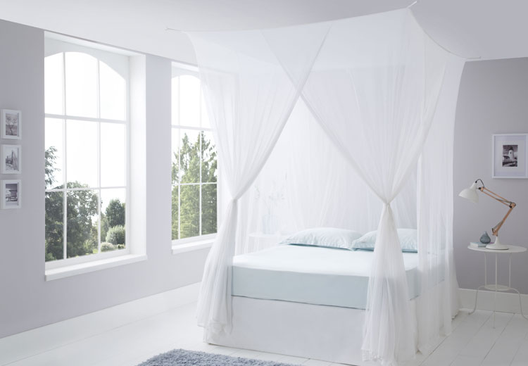 Luxurious Cotton Mosquito Net Box Queen Size