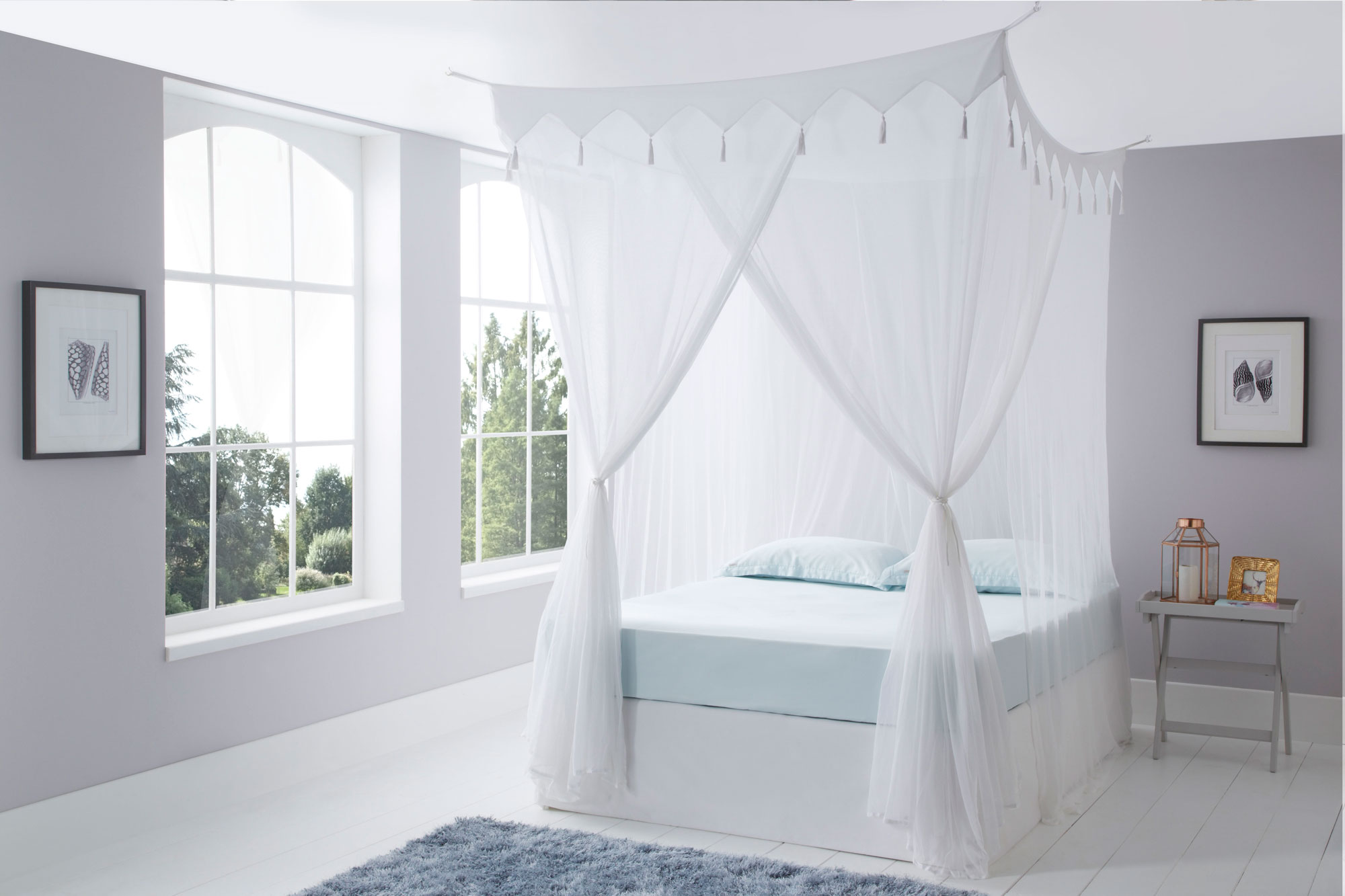Decorative Bed Canopy Decorative Box Cotton Mosquito Net King Size Mosquito