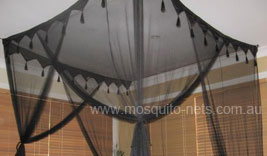King Size Box Black Mosquito Net